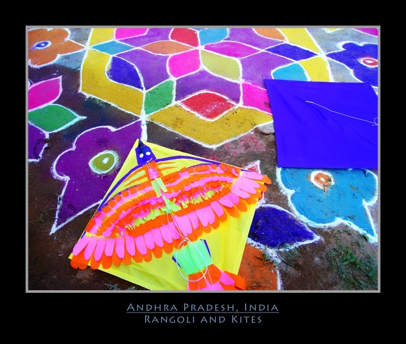 A Rangoli outside a home on pongal festival