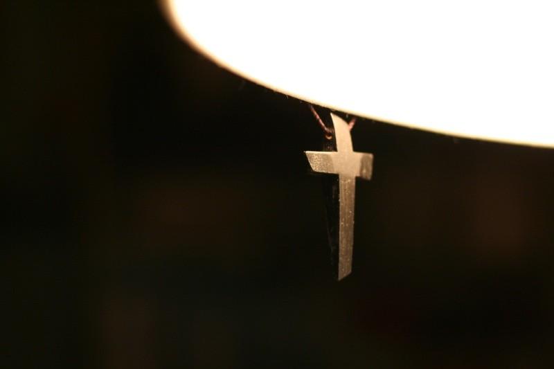 Hanging wooden cross