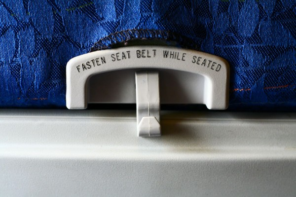 Notice on the plane seat table