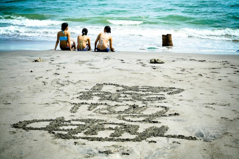 Names on the sand