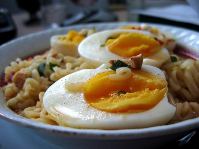 Eggs and noodles