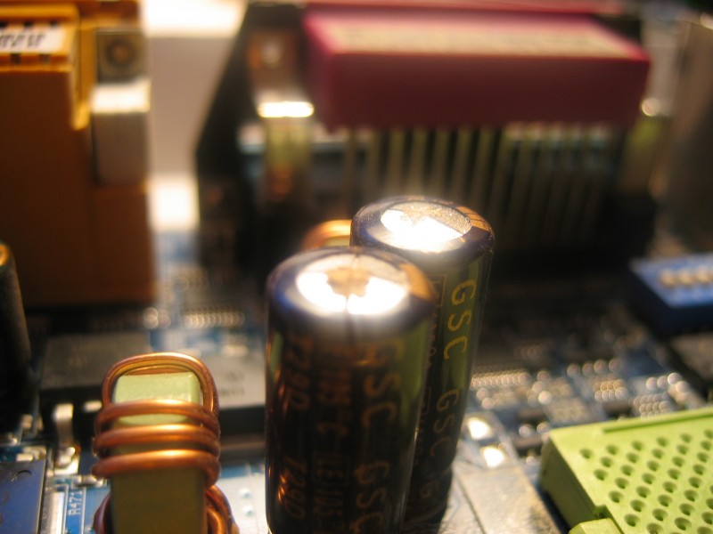 My capacitors are leaking!
