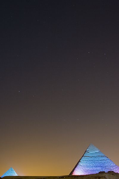 Pyramid lightshow