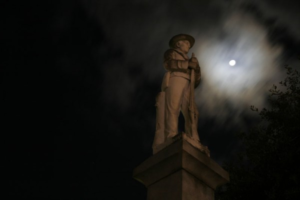 Statue and moonlight