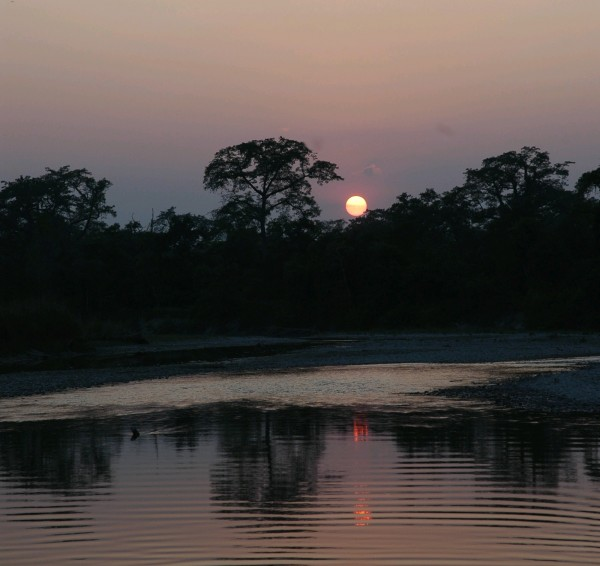 Sunset on Chitwan National Park