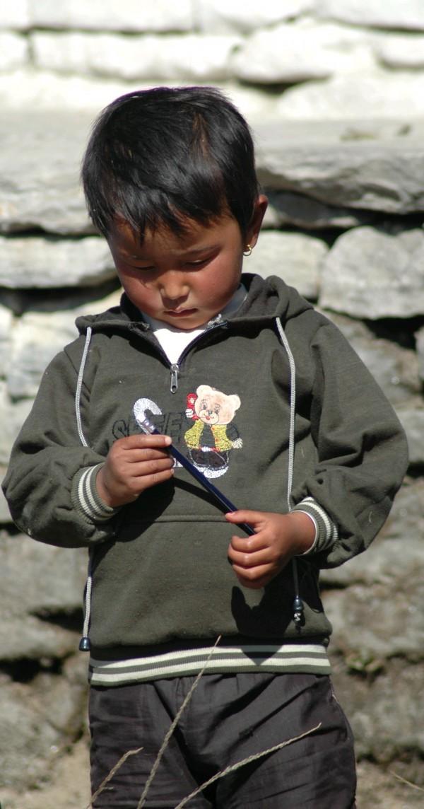 Schoolboy in Gundruk