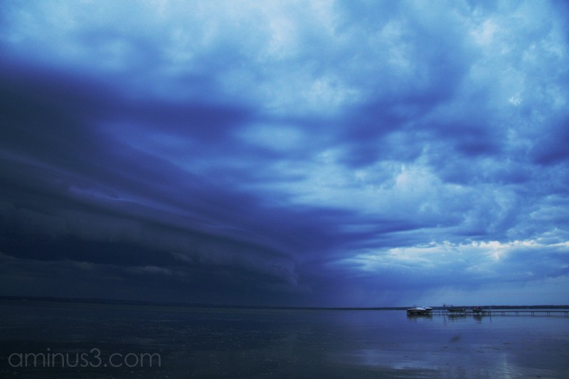 Storm approaching the lake