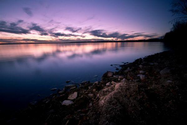 Evening sky over Pigeon Lake, Alberta, Canada