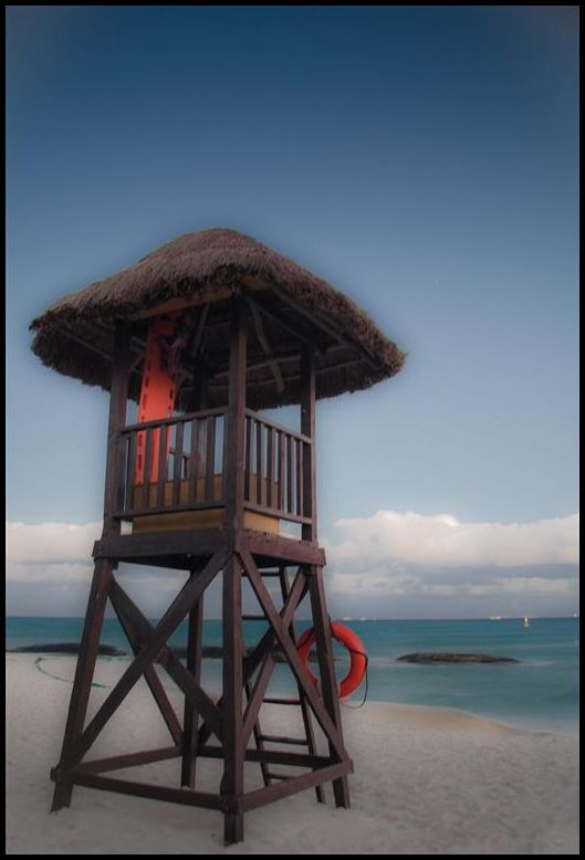 Lifeguard tower in Mexico