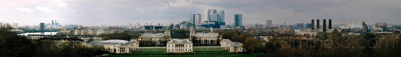 London Panorama View from Greenwich