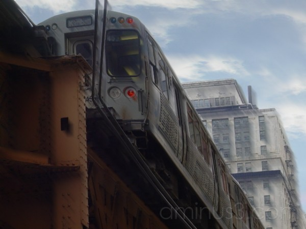 CTA Train in Chicago's Loop
