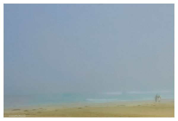 Surfers at Misty Beach