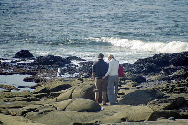 couple at the waves