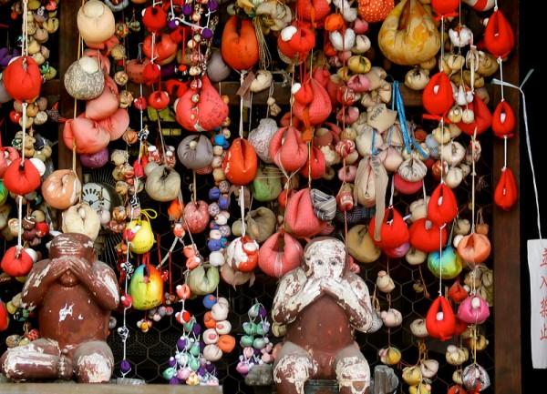monkeys  Yasaka Koshindo Temple see no evil