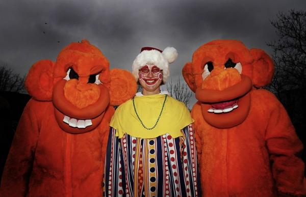 clown costume scary monkey