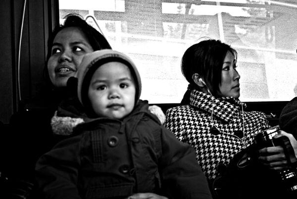 A morning bus ride