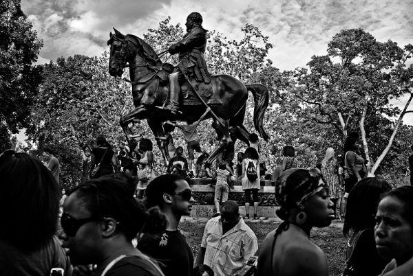 Prince Albert Rides His Horse