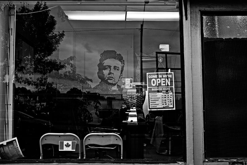 Barber Shop with Gum Balls and James Dean