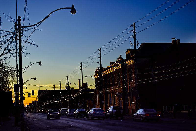 Sunset on Dupont