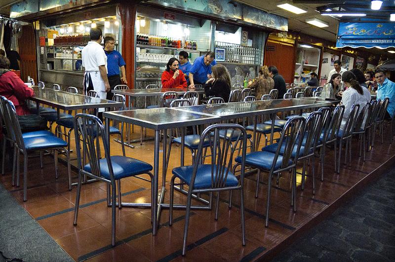 Closing time at the seafood bar