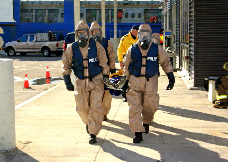 Toronto Police and Paramedics CBRN team in action