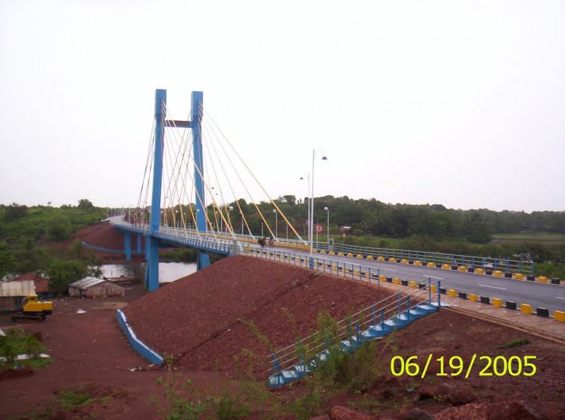 Cable Bridge, Corjuem, Aldona, Goa