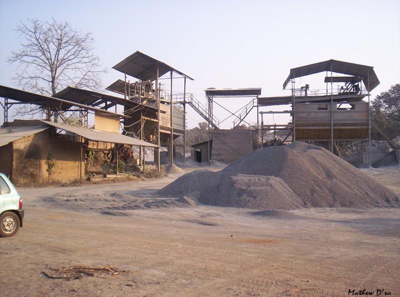 Concrete Stone crushing, Sanguem, Goa