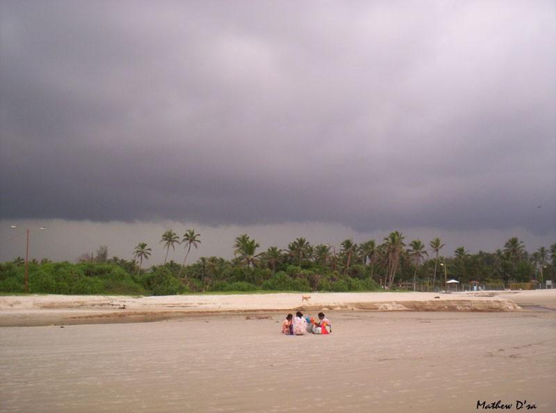Utorda beach Goa before storm