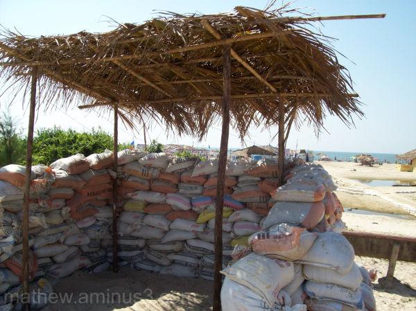 Police bunker on Goa Beach