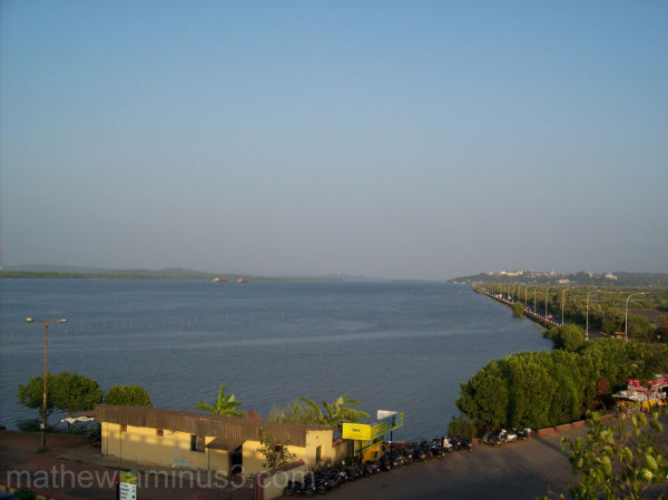 View of Mandovi River from Mandovi bridge Goa