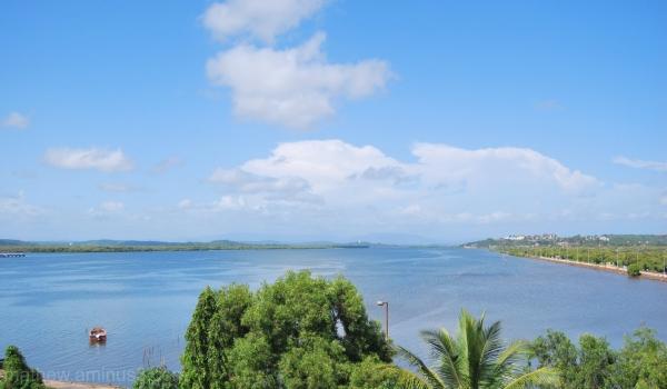 View from the Mandovi Bridge Goa