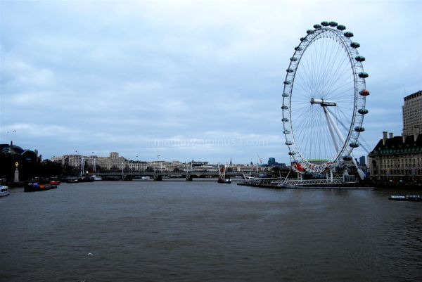 View of the Thames & the London Eye