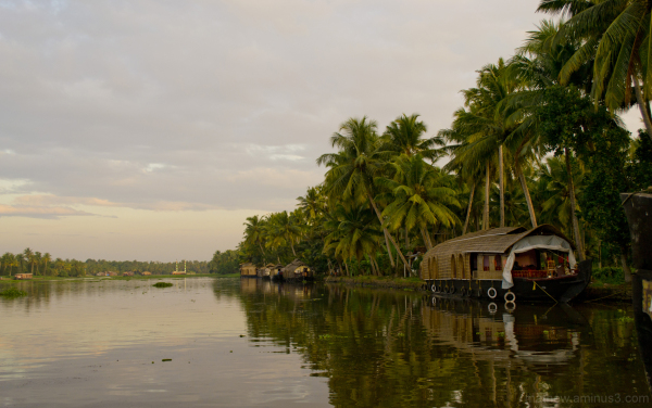 Sunset on the backwaters of Kerala