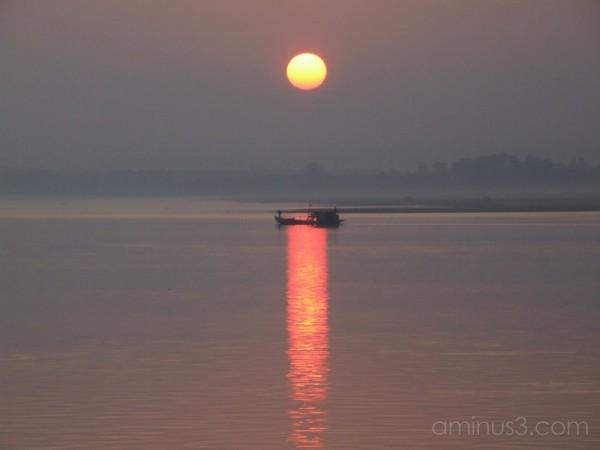 Dawn catch on Ayeyarwady