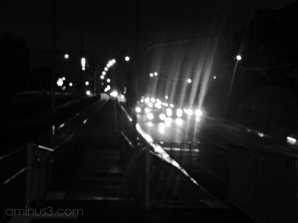 Homeward bound on a cold, wet night