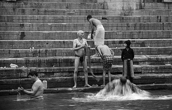 Bathing in the Ganga Ma (Mother Ganges)