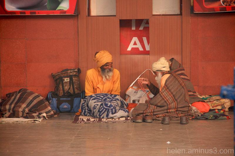 Varanasi Station: Shoes on the Platform