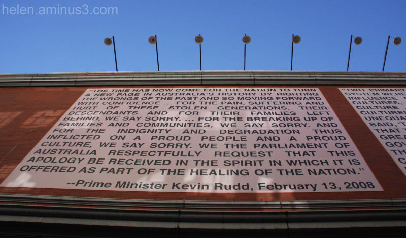 Looking up at the apology ...