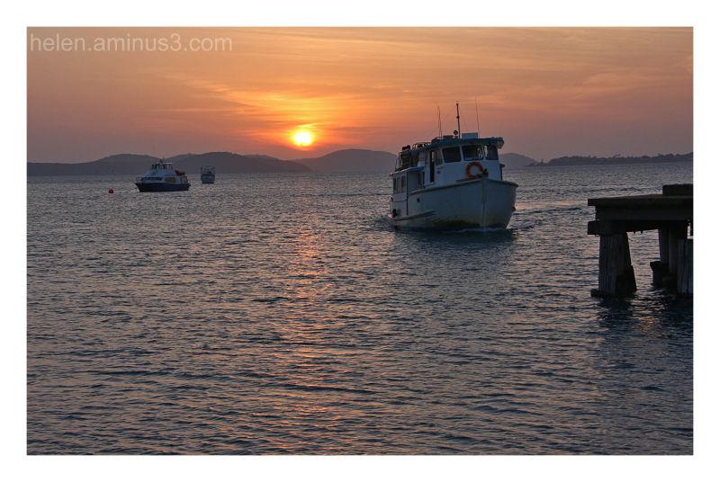 Sunset off HI jetty