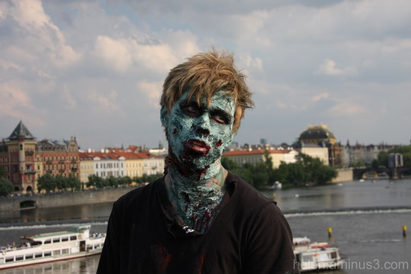 A zombie in Prague