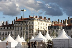 Tents in the square