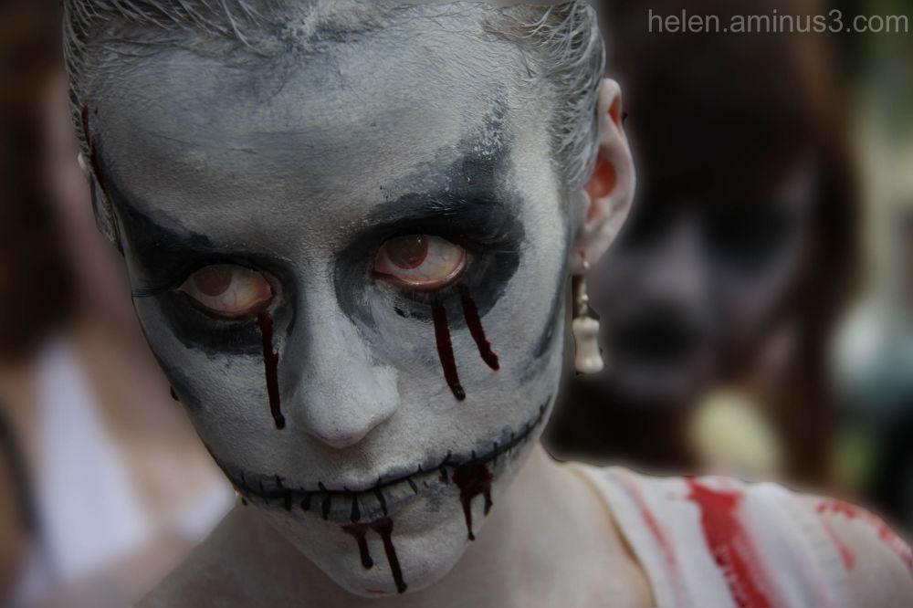 Zombie with a bone earring