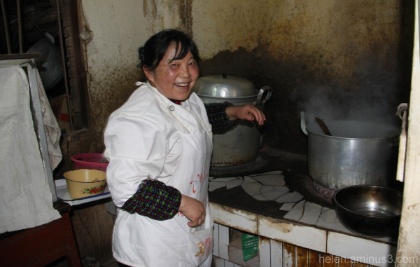Happy chef in LiuZhi kitchen