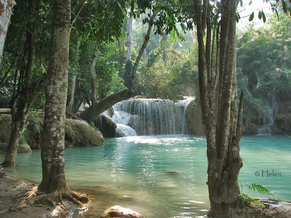 Pool under the Tat Kuang Si waterfall, Laos