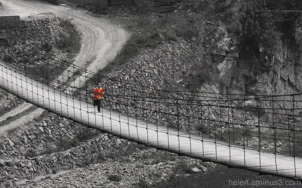 Runner on the Bridge
