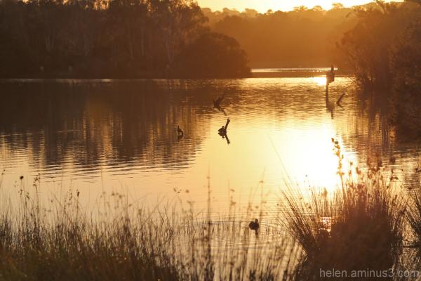 The lake at sunset 2
