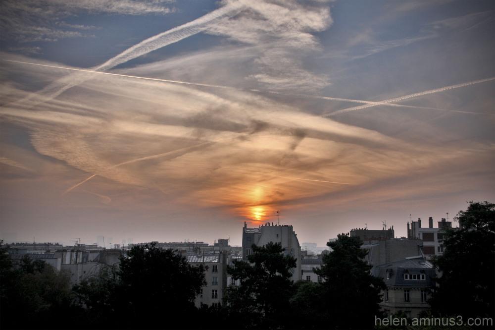 City silhouette - sunset