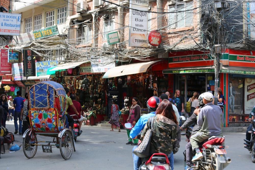 Thamel street - Kathmandu