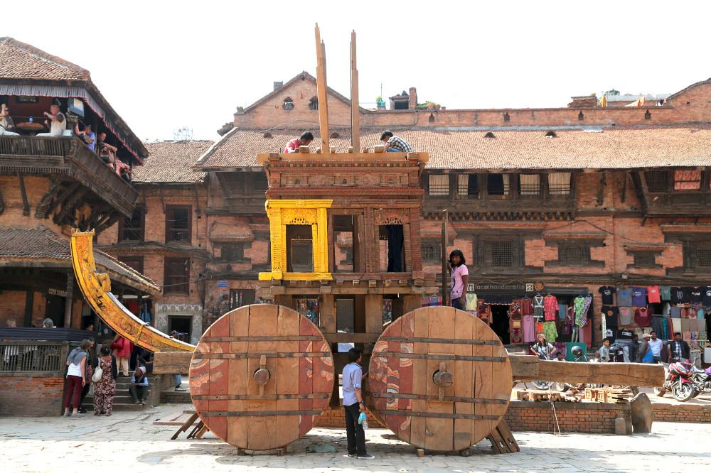 Nepali New Year and Bisket Jatra - Bhaktapur 2