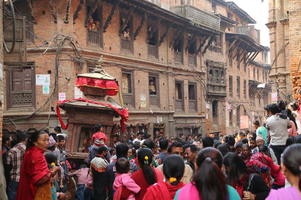 Nepali New Year and Bisket Jatra - Bhaktapur 3
